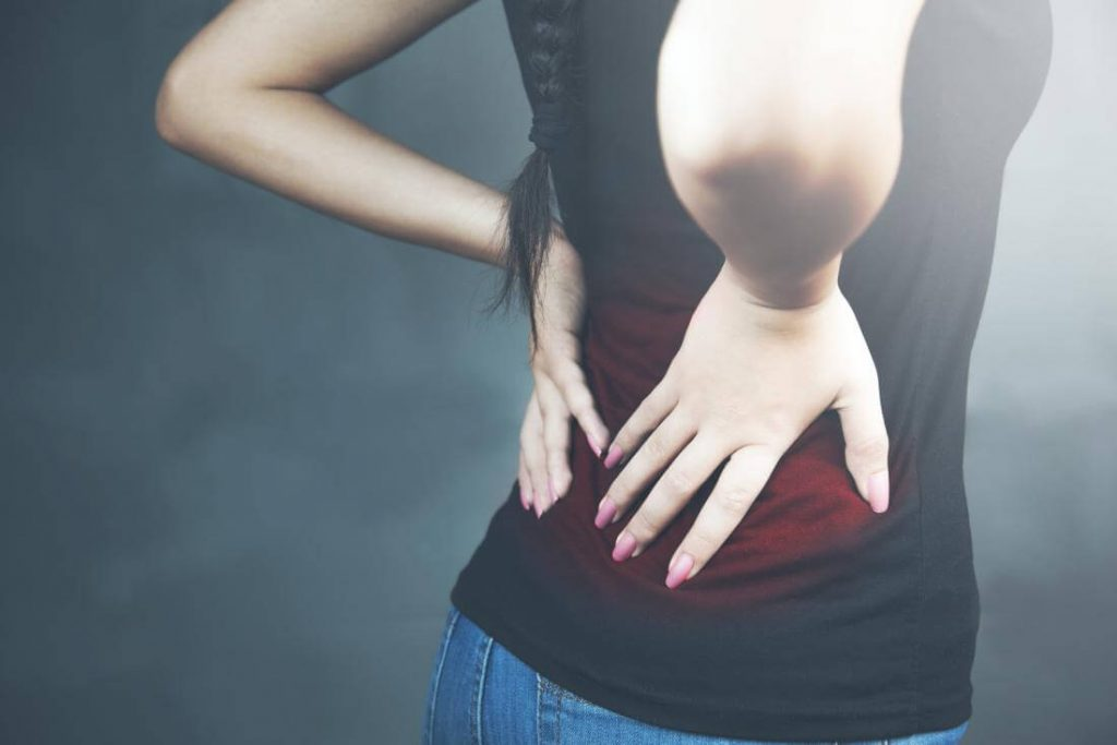 back pain in working women