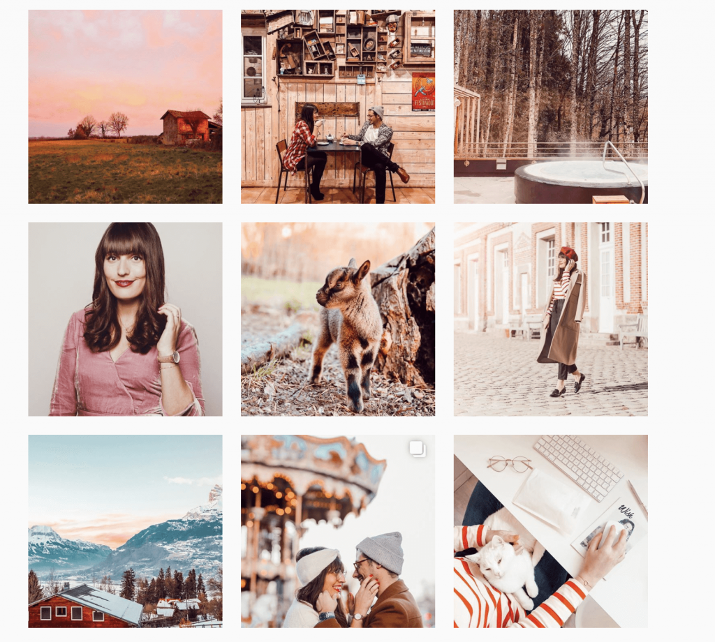 instagram feeds and grid