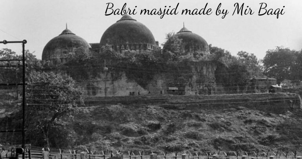 demolished babri masjid