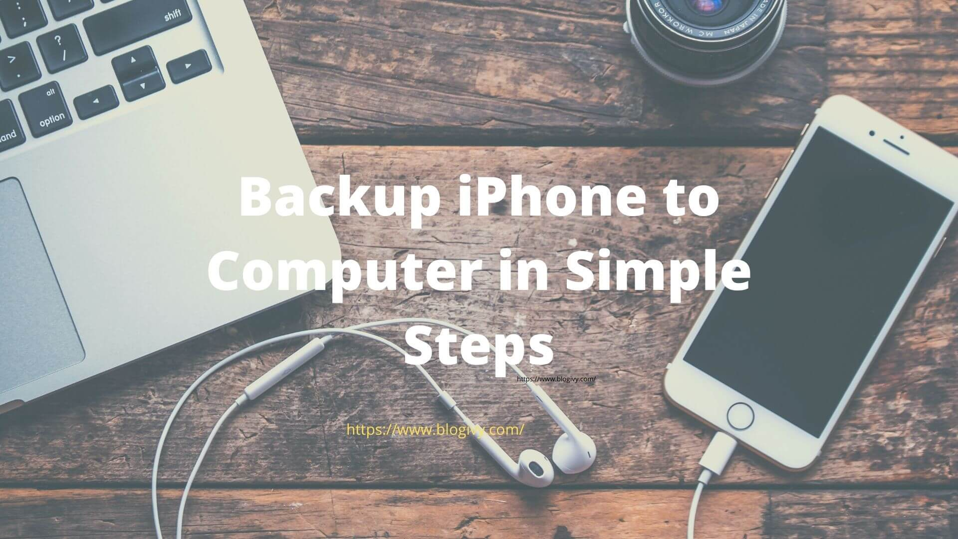 Backup iPhone to compter in simple step